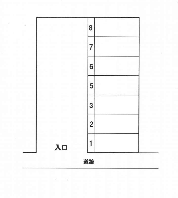 (賃貸)物件No.p013【千葉県佐倉市大崎台3 5500円/月】-間取図