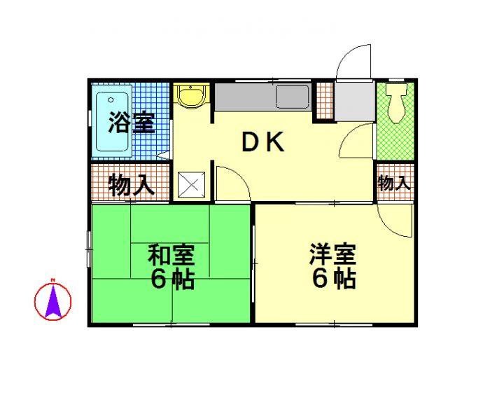 物件No.JS20156【千葉県佐倉市大崎台1 45000円】-間取図