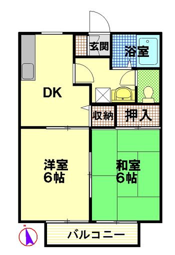 物件No.JS20085【千葉県佐倉市鏑木町 47000円】-間取図