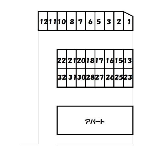 (賃貸)物件No.p004【千葉県佐倉市大崎台2丁目 6500円/月】-間取図