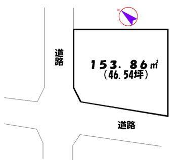 物件No.7756【千葉県富里市七栄 180万円】-間取図