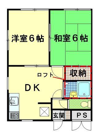 物件No.KU20111【千葉県佐倉市南臼井台 43000円】-間取図