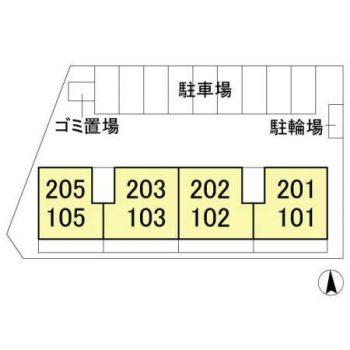 物件No.JS20202【千葉県佐倉市表町2丁目 55000円】-間取図