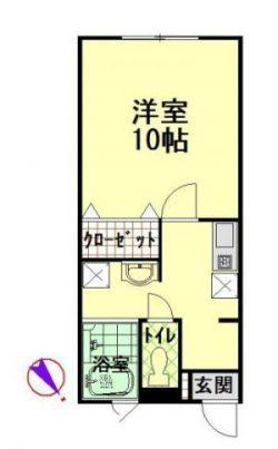 物件No.JS10121【千葉県佐倉市六崎 52000円】-間取図