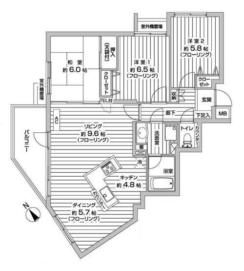 物件No.15046【千葉県佐倉市井野1586-25 1298万円】-間取図
