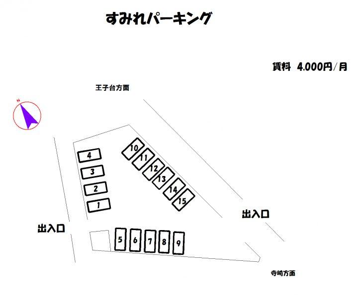 物件No.p038【千葉県佐倉市生谷1504-1 4000円】-間取図