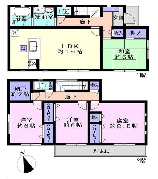 物件No.15315【千葉県佐倉市生谷 1980万円】-間取図