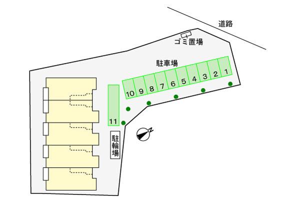 (賃貸)物件No.JS20212【千葉県佐倉市城515 68000円/月】-間取図