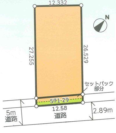 物件No.16154【千葉県富里市七栄 1111万円】-間取図