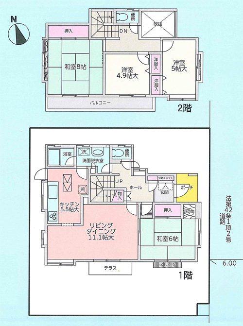 物件No.17017【千葉県佐倉市井野 1260万円】-間取図