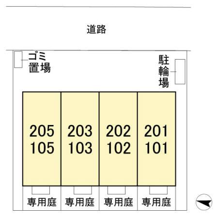 (賃貸)物件No.KS10093【千葉県佐倉市宮前3丁目 76000円/月】-間取図