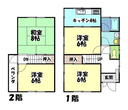 物件No.SIK0014【千葉県富里市七栄 45000円】-間取図