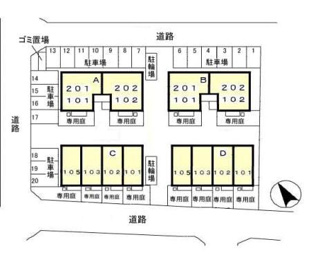 (賃貸)物件No.JM20033A202【千葉県四街道市もねの里3-22 68000円/月】-間取図