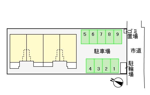 (賃貸)物件No.KS10085【千葉県佐倉市大蛇町257 61000円/月】-間取図