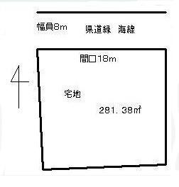 物件No.18960【千葉県東金市下武射田 420万円】-間取図