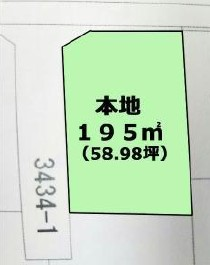 物件No.19152【千葉県東金市上谷 220万円】-間取図