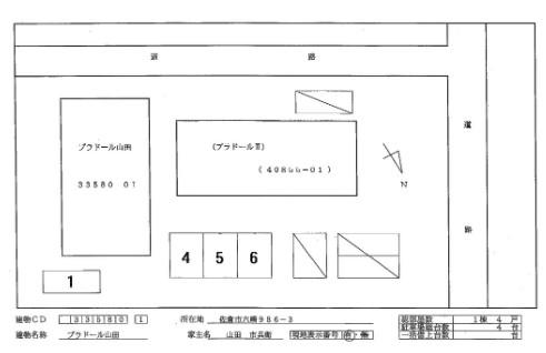 (賃貸)物件No.JS20225【千葉県佐倉市六崎986-3 56000円/月】-間取図