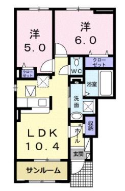 (賃貸)物件No.KS20103【千葉県佐倉市城内町61 80000円/月】-間取図