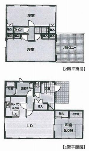物件No.19394【千葉県茂原市東茂原 1780万円】-間取図
