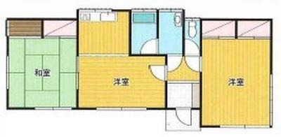 物件No.19382【千葉県東金市広瀬 1490万円】-間取図
