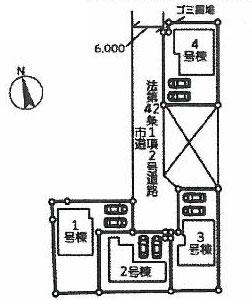 物件No.19631【千葉県成田市本城 2390万円】-間取図