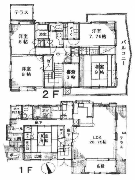 物件No.19743【千葉県東金市日吉台 4380万円】-間取図