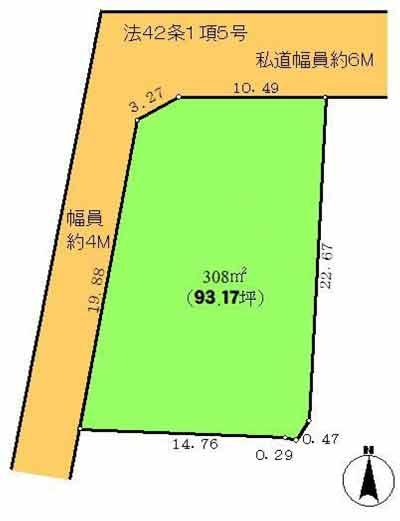物件No.19714【千葉県勝浦市興津 298万円】-間取図