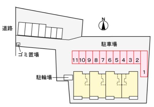 (賃貸)物件No.JS20230【千葉県佐倉市城354-1 80500円/月】-間取図