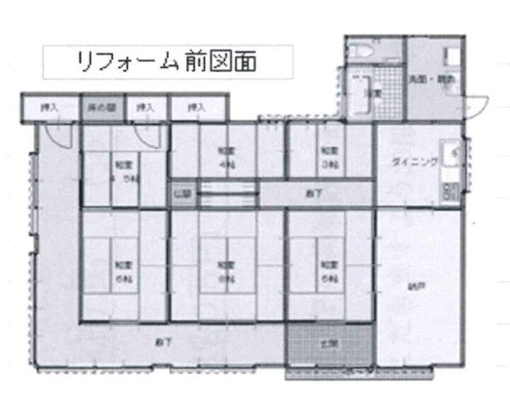 物件No.19923【千葉県山武市島 1880万円】-間取図