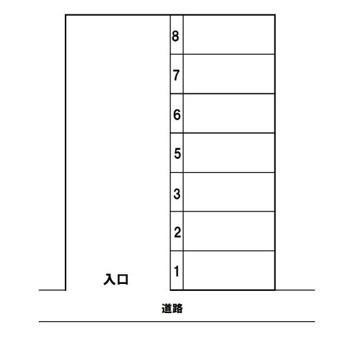 (賃貸)物件No.p012【千葉県佐倉市六崎312-4 7000円/月】-間取図
