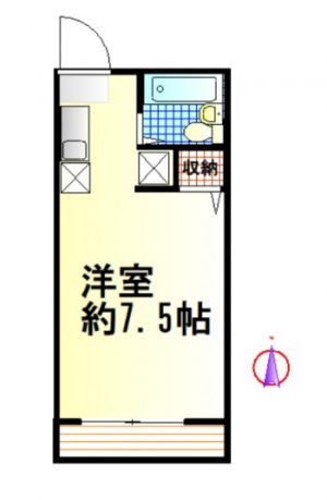 (賃貸)物件No.KS10040【千葉県佐倉市鏑木町 34000円/月】-間取図