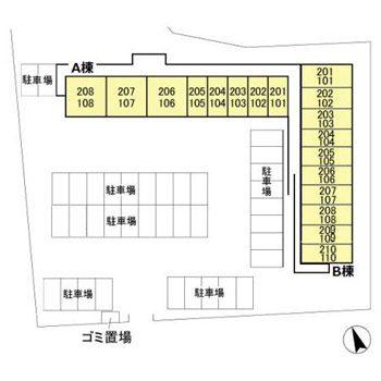 (賃貸)物件No.JS20169A【千葉県佐倉市城 55000円/月】-間取図