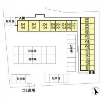 (賃貸)物件No.JS10044A【千葉県佐倉市城 42000円/月】-間取図