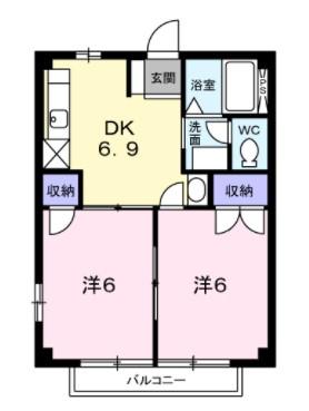 (賃貸)物件No.JS20065【千葉県佐倉市城 43000円/月】-間取図