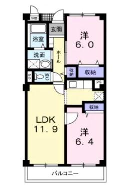 (賃貸)物件No.JS20037【千葉県佐倉市城804-1 64000円/月】-間取図