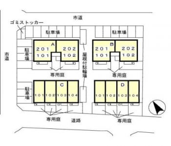 (賃貸)物件No.JM20033-C103【千葉県四街道市もねの里3丁目 69000円/月】-間取図