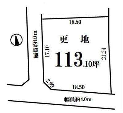 物件No.18737【千葉県山武市木原 300万円】-間取図