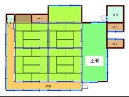 物件No.18948【千葉県東金市山田 980万円】-間取図