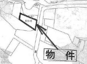 物件No.19155【千葉県東金市関下511-6 120万円】-間取図