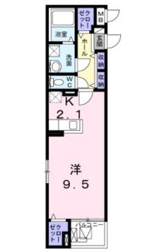 (賃貸)物件No.JS10158【千葉県佐倉市表町1-6-9 71000円/月】-間取図