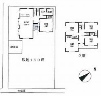 物件No.19372【千葉県山武市小松 1480万円】-間取図