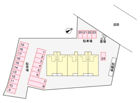 (賃貸)物件No.JS10165【千葉県佐倉市城494-3 62500円/月】-間取図