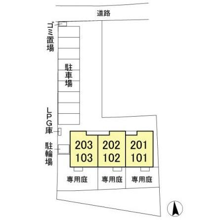 (賃貸)物件No.JS20229【千葉県佐倉市 79000円/月】-間取図