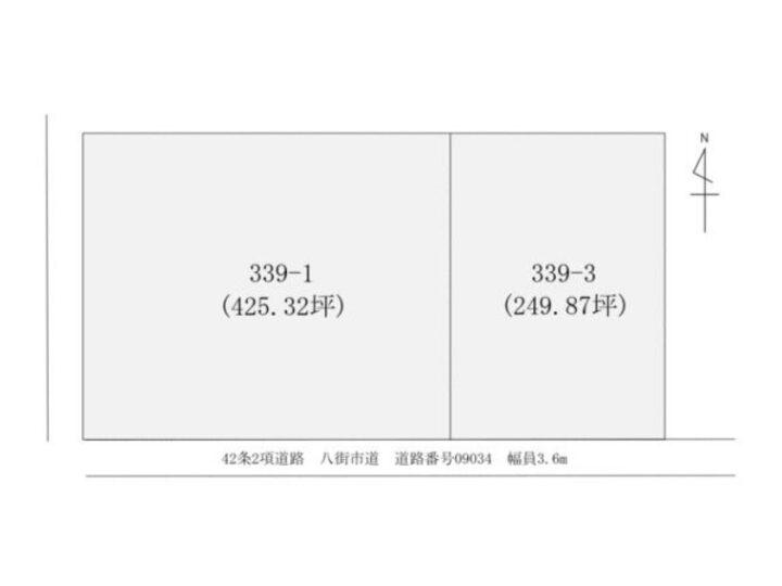 物件No.19808【千葉県八街市朝日399番1、399番3 1500万円】-間取図